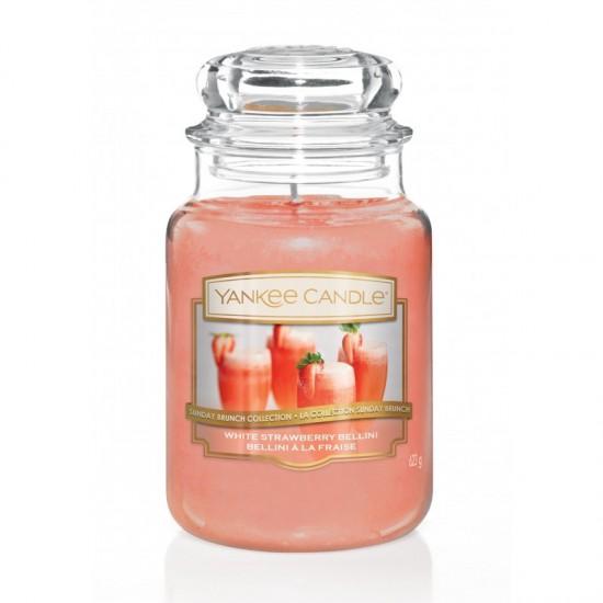 Duża świeca White Strawberry Bellini Yankee Candle