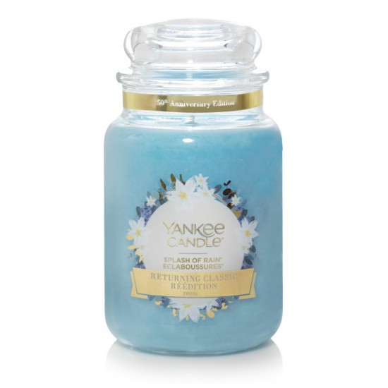 Duża świeca Splash of Rain Yankee Candle