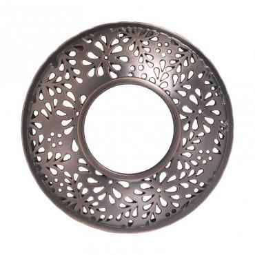 Sheridan - nakładka na słoik Flower Bronze Punched Metal Yankee Candle
