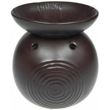 Kominek do wosków Apollo ze zdobioną miseczką brązowy