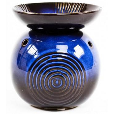 Kominek do wosków Apollo ze zdobioną miseczką niebieski