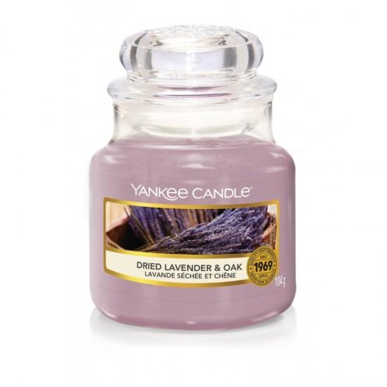 Mała świeca Dried Lavender & Oak Yankee Candle