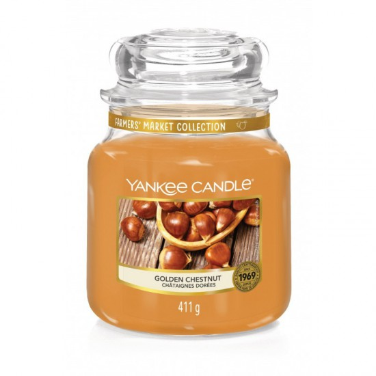 Średnia świeca Golden Chestnut Yankee Candle
