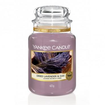 Duża świeca Dried Lavender & Oak Yankee Candle