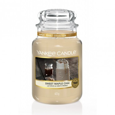 Duża świeca Sweet Maple Chai Yankee Candle