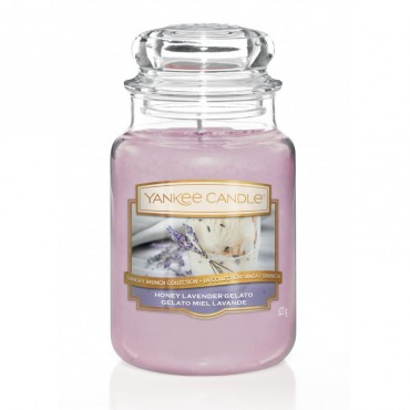 Duża świeca Honey Lavender Gelato Yankee Candle