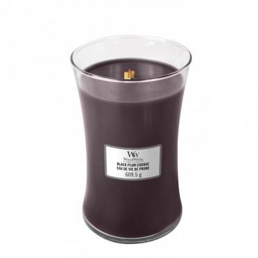 Duża Świeca Black Plum Cognac WoodWick