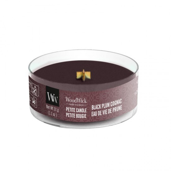 Świeca Petite Black Plum Cognac WoodWick