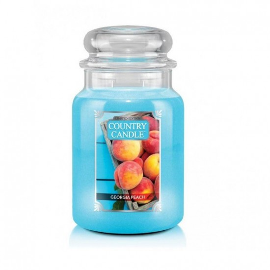 Duża świeca Georgia Peach Country Candle