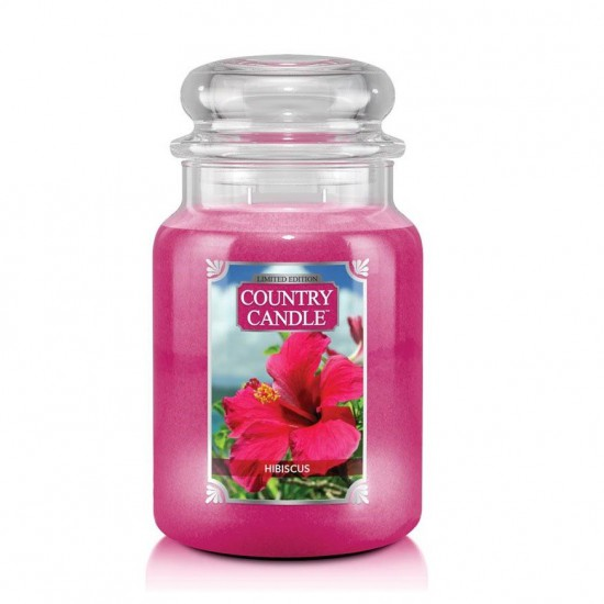 Duża świeca Hibiscus Country Candle