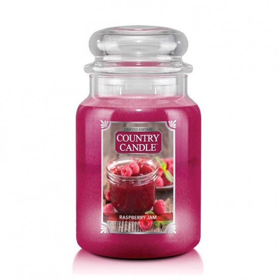 Duża świeca Raspberry Jam Country Candle