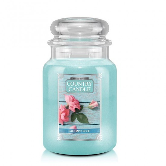 Duża świeca Salt Mist Rose Country Candle