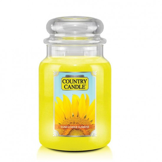 Duża świeca Sunflower Sunrise Country Candle