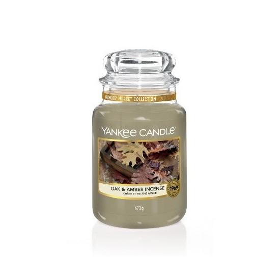 Duża świeca Oak & Amber Incense Yankee Candle