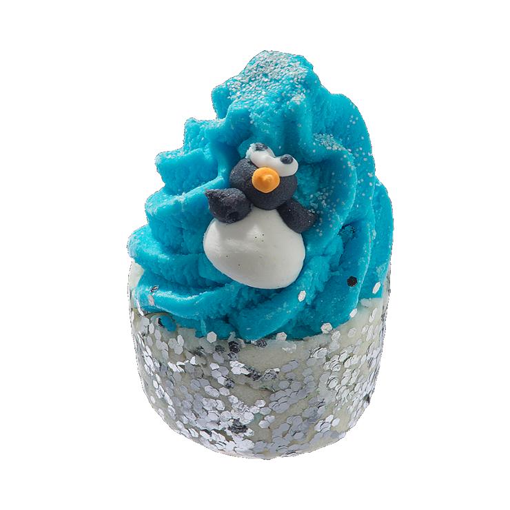 Kremowa babeczka do kąpieli MIĘTOWY PINGWINEK Bomb Cosmetics