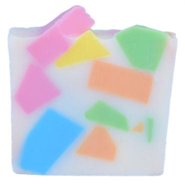 Mydło glicerynowe PUDROWE PASTELE z Grejpfrutem Bomb Cosmetics