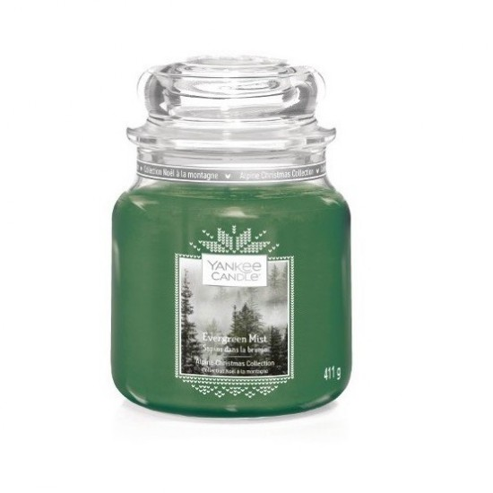 Średnia świeca Evergreen Mist Yankee Candle