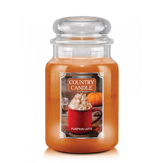 Duża świeca Pumpkin Latte Country Candle