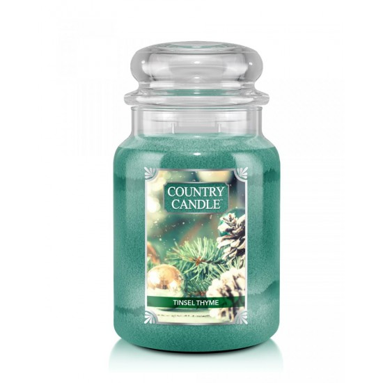 Duża świeca Tinsel Thyme Country Candle