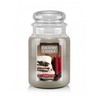 Duża świeca Warm and Fuzzy Country Candle
