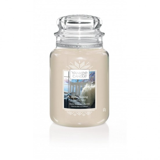 Duża świeca Alpine Morning Yankee Candle