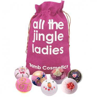 Zestaw upominkowy worek św. Mikołaja All The Jingle Ladies Bomb Cosmetics