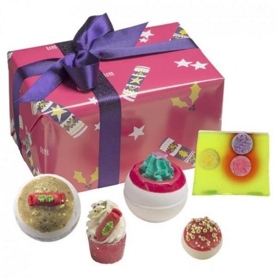 Zestaw upominkowy Świąteczne Cukierki Crackerlackin Bomb Cosmetics