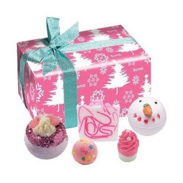 Zestaw upominkowy Sen o różowych świętach Bomb Cosmetics