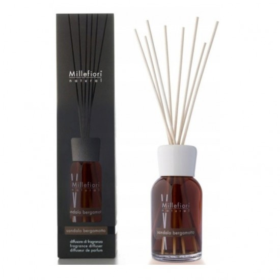 Pałeczki zapachowe 250ml Sandalo Bergamotto Millefiori Milano