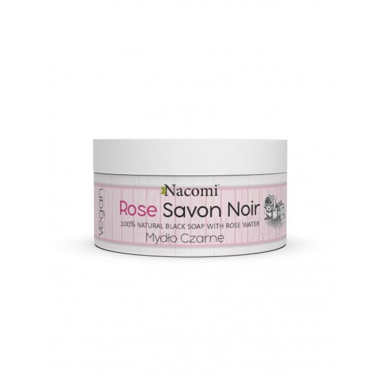 Różane Czarne Mydło z wodą różaną Rose Savon Noir 125g Nacomi