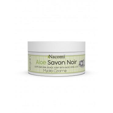 Aloesowe Czarne Mydło z sokiem z aloesu Aloe Savon Noir 125g Nacomi