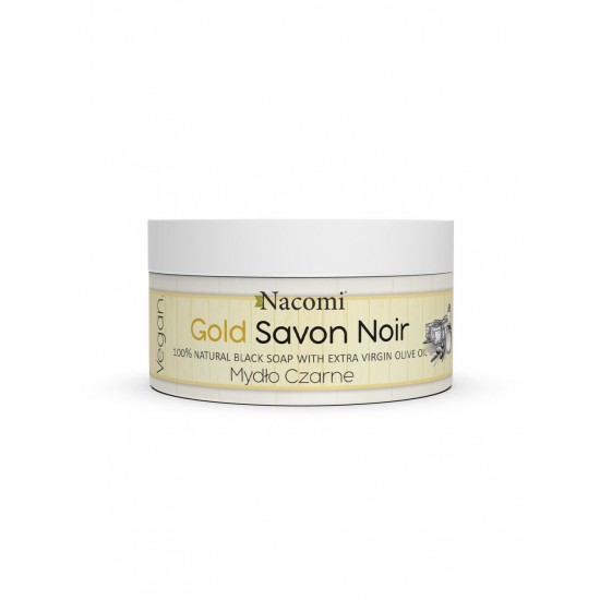 Złote Czarne Mydło z oliwą z oliwek Gold Savon Noir 125g Nacomi