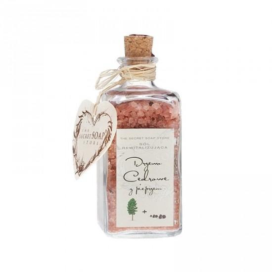 Sól do kąpieli Rewitalizująca Drzewo Cedrowe z Pieprzem