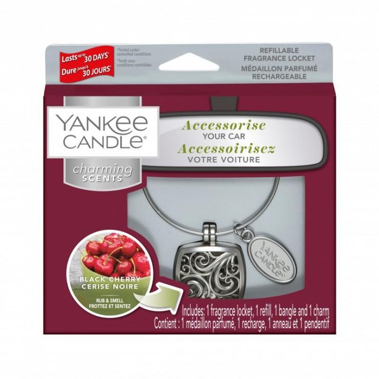 Charming Scents zestaw z uzupełniaczem Black Cherry Yankee Candle