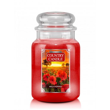 Duża świeca Wild Poppies Country Candle