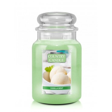 Duża świeca Vanilla Mint Country Candle