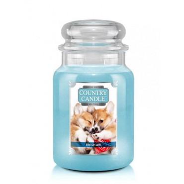 Duża świeca Fresh Air Puppy Country Candle
