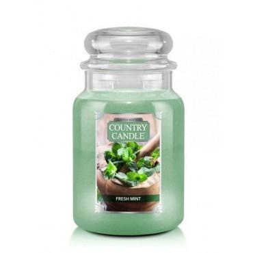 Duża świeca Fresh Mint Country Candle