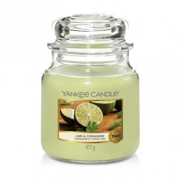 Średnia świeca Lime & Coriander Yankee Candle