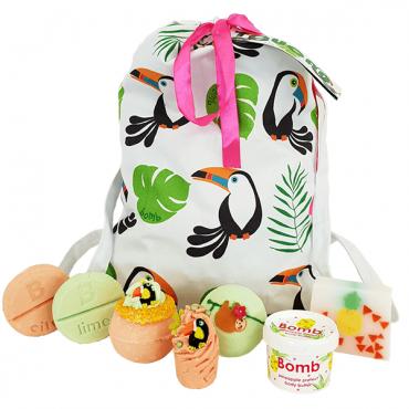Zestaw kosmetyków w bawełnianej torbie TOUCAN PLAY AT THAT GAME Bomb Cosmetics