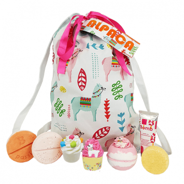 Zestaw kosmetyków w bawełnianej torbie ALPACA MY BAGS Bomb Cosmetics