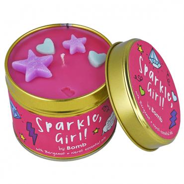 Świeca zapachowa w puszce Sparkle Girl Bomb Cosmetics