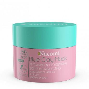 Maska niebieska przeciwzmarszkowo-dotleniająca 50ml Blue Clay Mask Nacomi