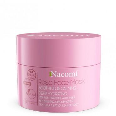 Maska różana łagodząco-uspokajająca 50ml Rose Face Mask Nacomi