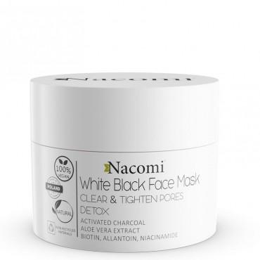 Maska biało-czarna 50ml White Black Face Mask Nacomi