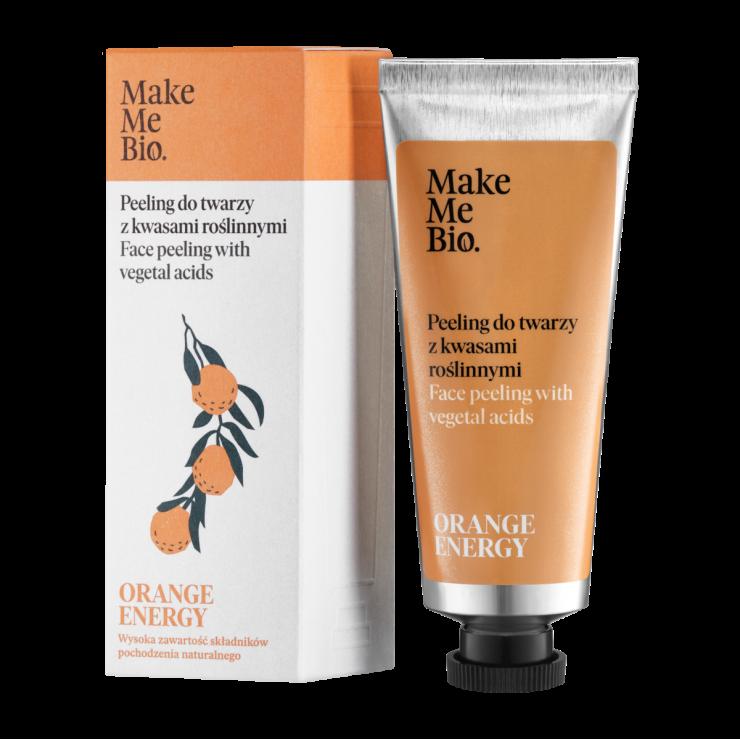 Peeling do Twarzy z Kwasami Roślinnymi 40ml Orange Energy Make Me Bio