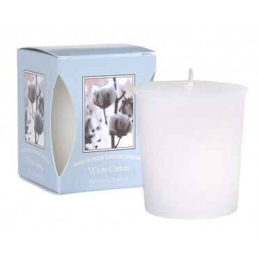 Świeca zapachowa Votive White Cotton 56 g Bridgewater Candle