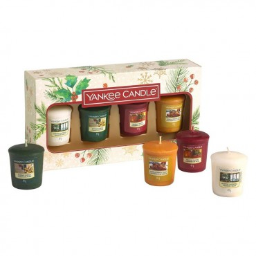 Magical Christmas Morning - zestaw 4 świec typu votive Yankee Candle
