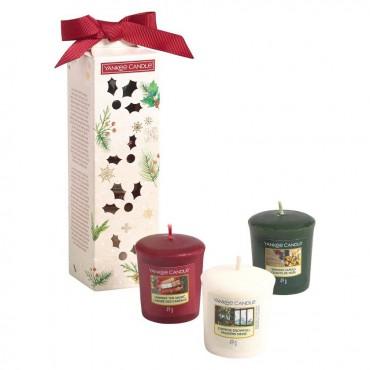 Magical Christmas Morning - zestaw 3 świec typu votive Yankee Candle