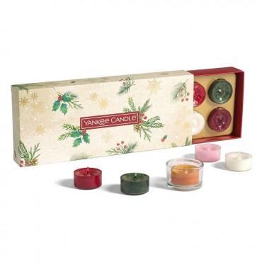 Magical-Christmas-Morning-zestaw-10-zapachowych-tealights-swiecznik-Yankee-Candle
